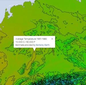 Deutschland Temperaturkarte