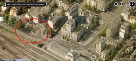 Bing Maps: Mannheim Hauptbahnhof