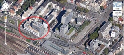 Google Maps: Mannheim Hauptbahnhof