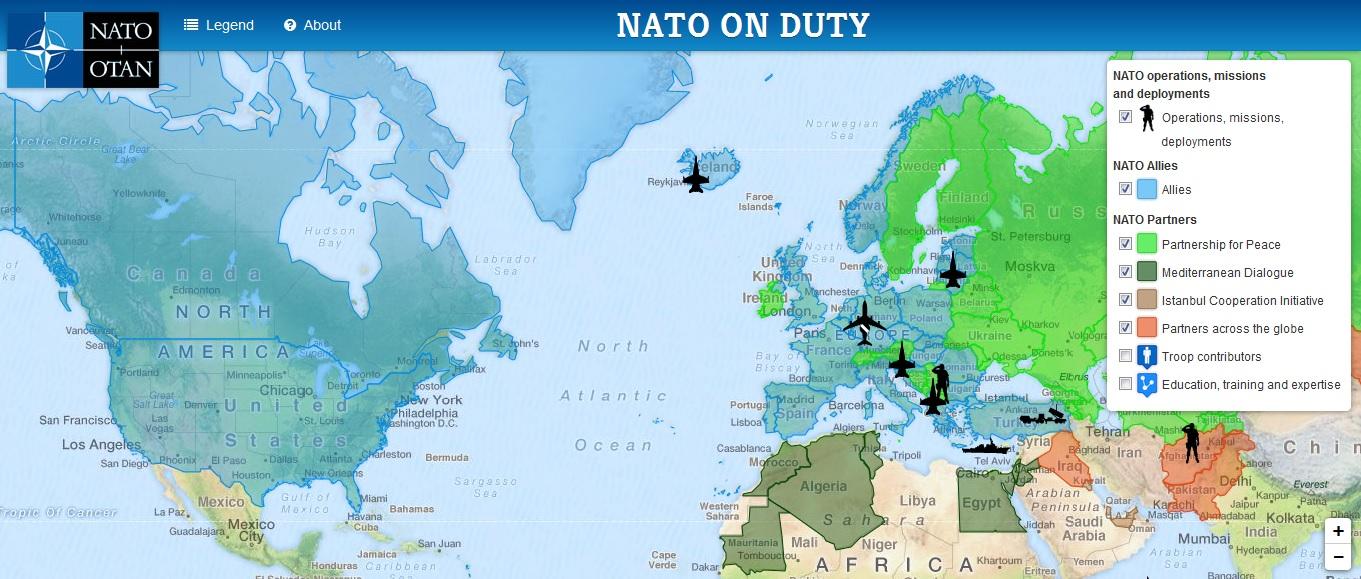 Verteilung Nato Länder