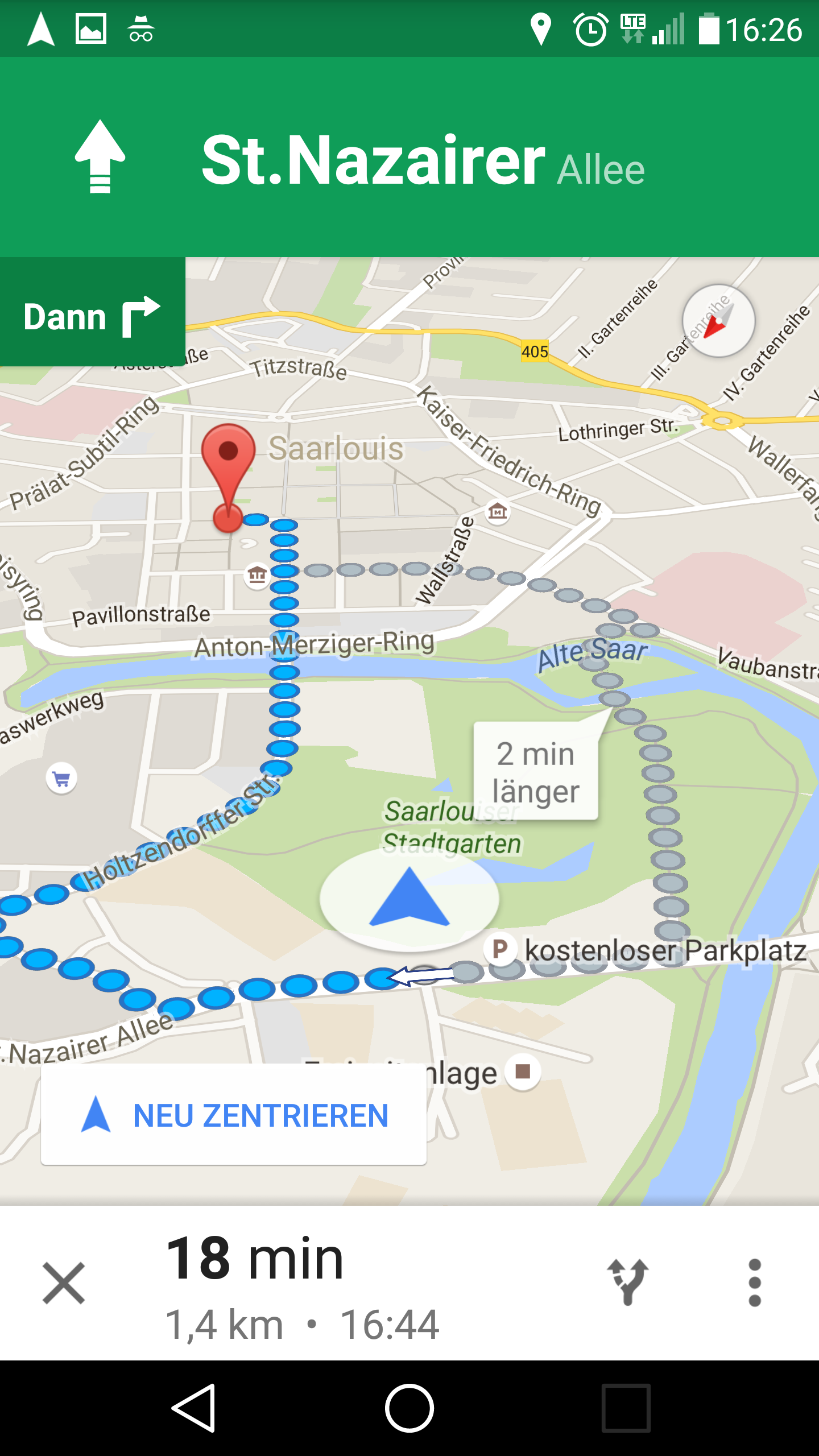 Test Spaziergang Mit Google Navi App Mapsblogde