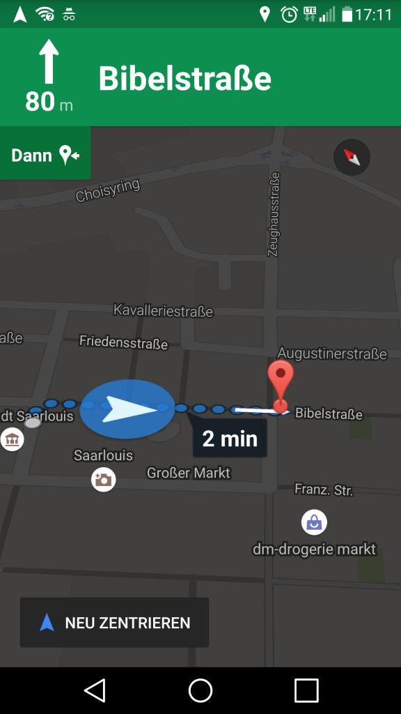 Google Maps Ziel