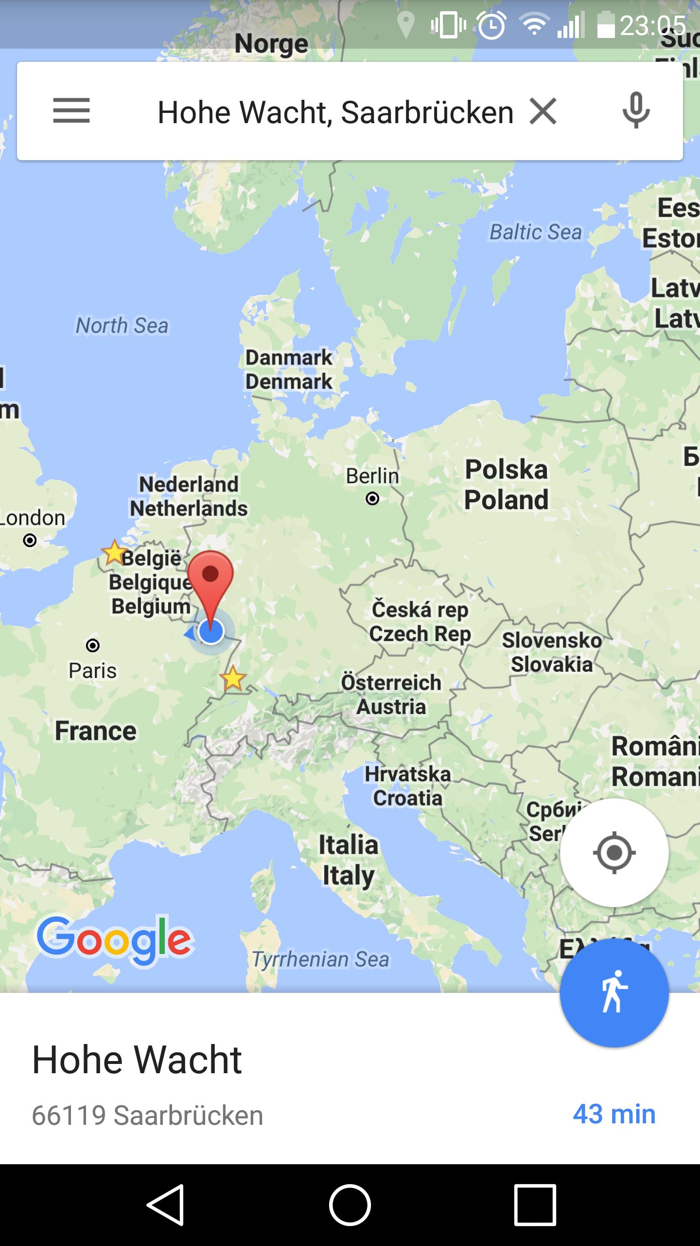 Test-Spaziergang mit Google Navi App | MapsBlog.de