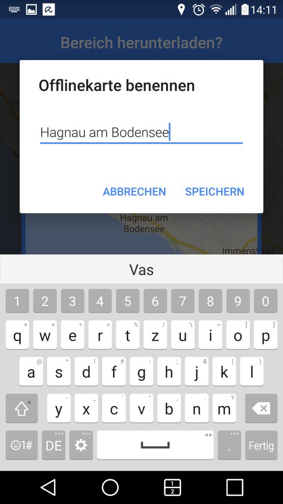 Offline-Map speichern